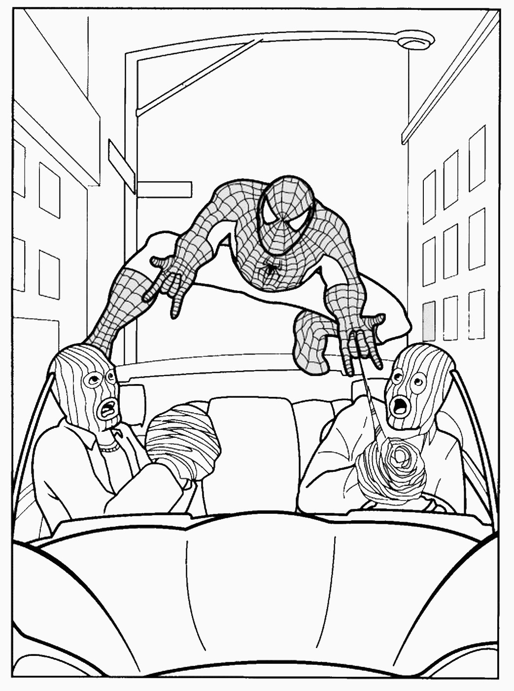 Spider Man Outline Coloring Pages Sketch Coloring Page