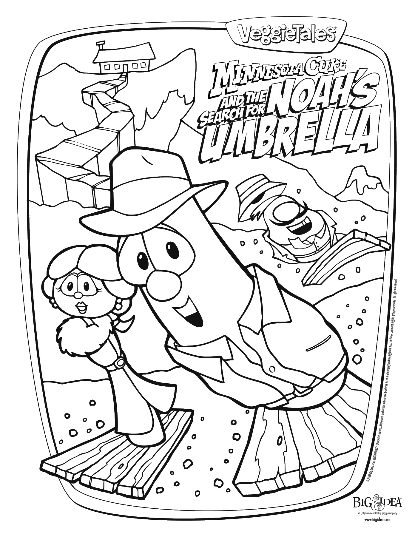 veggie tales pirates coloring pages - photo#9