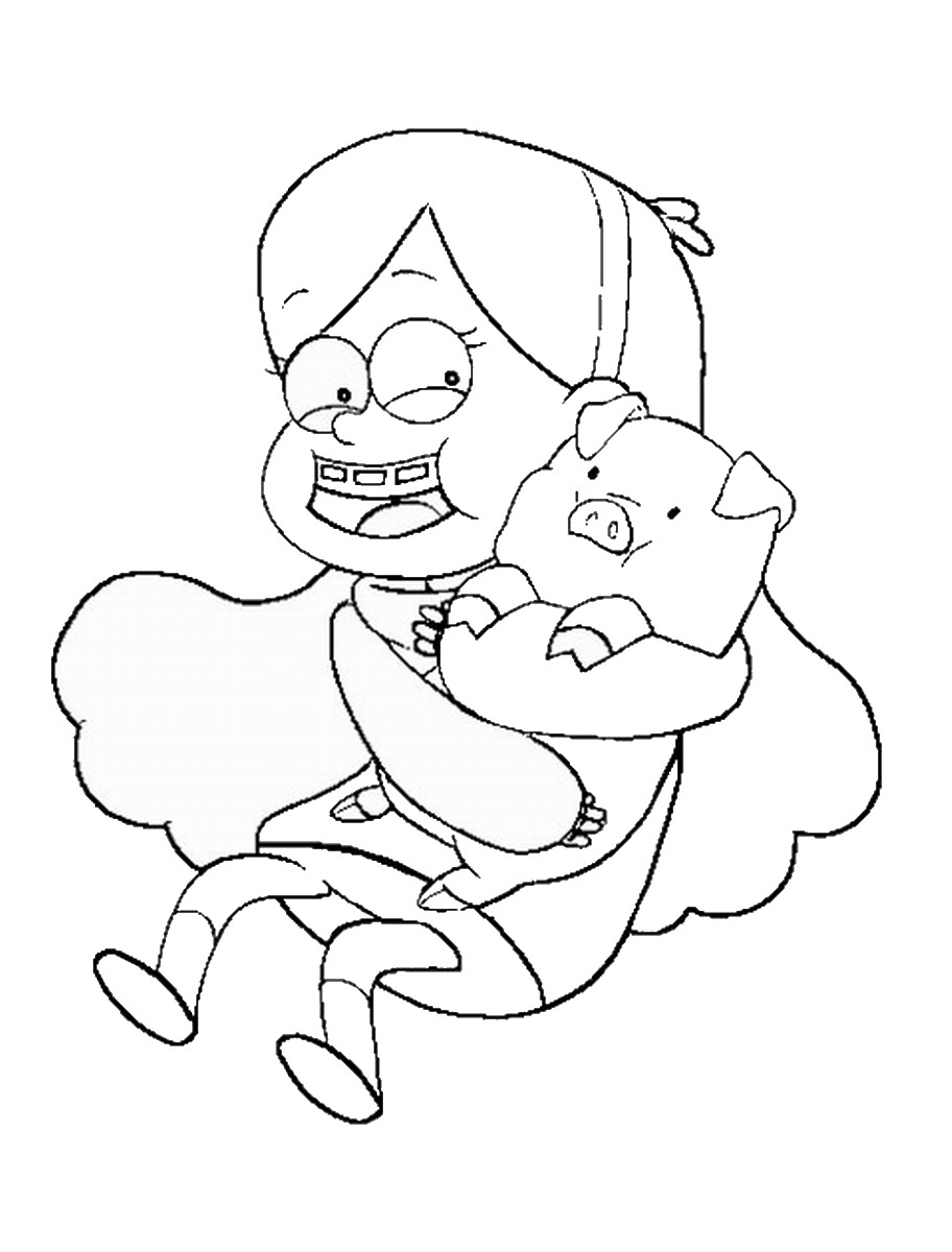 gravity falls coloring pages dipper - photo#17